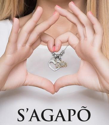 shae04 Bracciale Rigido Happy S'Agapò