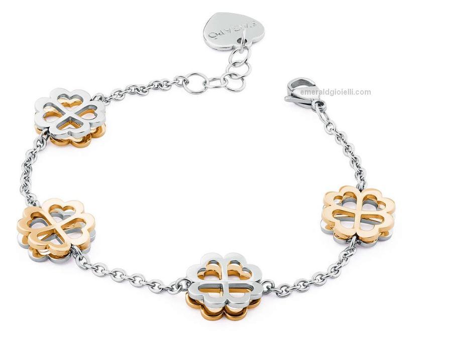 SBF15 Bracciale Butterfly Quadrifogli S'Agapò