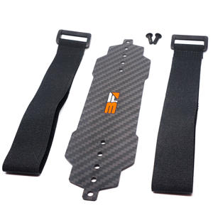 HB Racing - Carbon Battery tray with velcro Strap