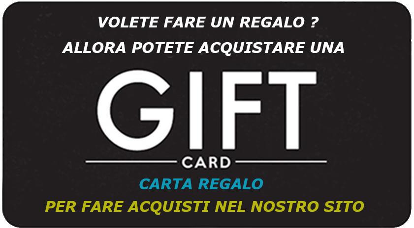GIFT CARD CARTA REGALO SPENDIBILE NEL NOSTRO SITO DA 100-150-200 EURO