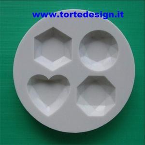 stampo silicone 4 pietre preziose