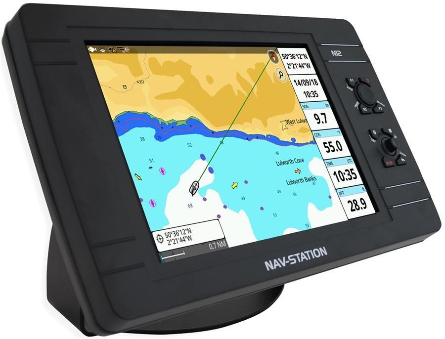 "GPS nautico Nav-Station N12: app ""Mirror Control"" e ""Captain Cloud"" Con Cartografia C-Map - Offerta di Mondo Nautica  24"