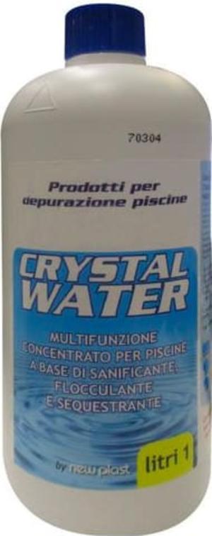 Crystal Water Multifunzione Concentrato per Acqua Piscina, Flacone 1 lt
