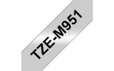 NASTRO METALIZZATO OPACO DA 24 mm (8 m) Nero/Argento OPACO