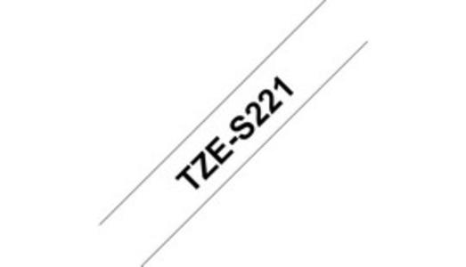 NASTRO BROTHER TZe-S221 9MMx8MT NERO/BIANCO ADESIVO RESISTENTE