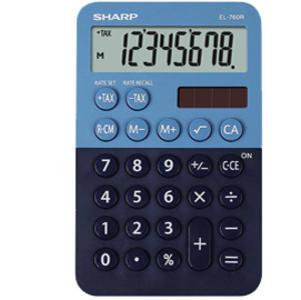 Calcolatrice tascabile EL 760R, 8 cifre, 2 colori design, azzurro - blu