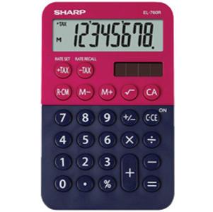 Calcolatrice tascabile EL 760R, 8 cifre, 2 colori design, rosso - blu