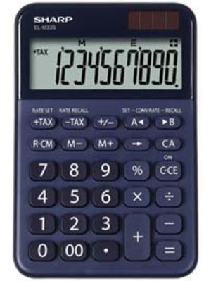 Calcolatrice da tavolo, EL M335 10 cifre, colore blu