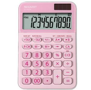 Calcolatrice da tavolo, EL M335 10 cifre, colore rosa