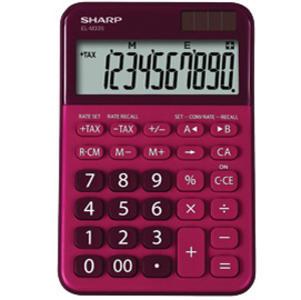 Calcolatrice da tavolo, EL M335 10 cifre, colore rosso