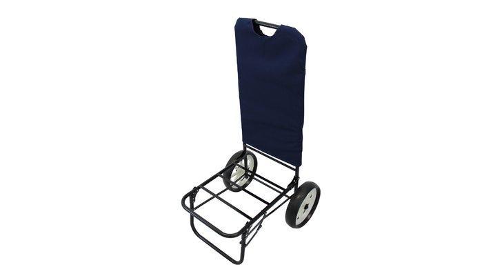 Trolley Carrellino per spiaggia con ruote large ANSELMO con tasta porta ombrellone