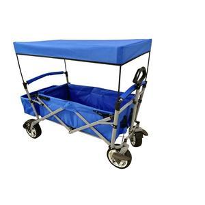 Carretto carrello pieghevole con tettuccio CAORLE per campeggio mare spiaggia lago ruote larghe
