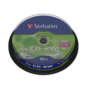 SCATOLA 10 CD-RW DATALIFEPLUS 8x-10x 700MB SERIGRAFATO PACK SPINDLE
