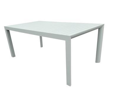 Tavolo da giardino in alluminio allungabile BELLUNO misura 180 / 240 x 100 h 75 colore BIANCO