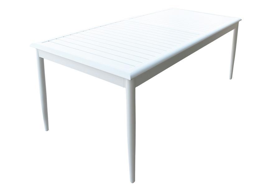 Tavolo da giardino in alluminio allungabile POMPEI MAXI misura 200 / 300 x 90 h 76 col BIANCO