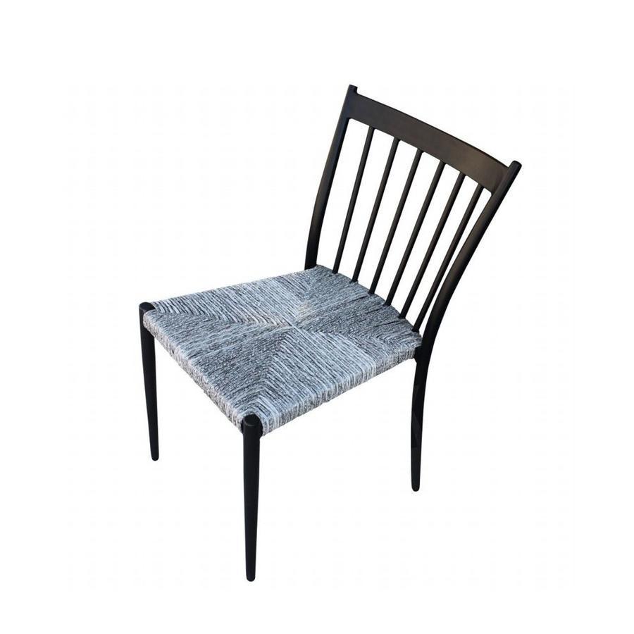 Sedia da giardino in alluminio SAN MARTINO impilabili seduta polyrattan ANTRACITE
