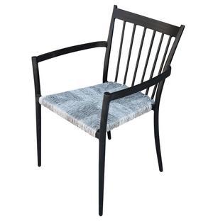 Sedia da giardino in alluminio SAN MARTINO POLTRONA  impilabili seduta polyrattan ANTRACITE