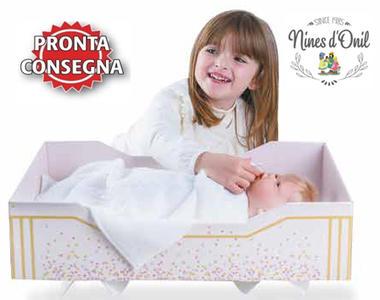 Scatola Baby Box Culla per Bambole completa di Corredi