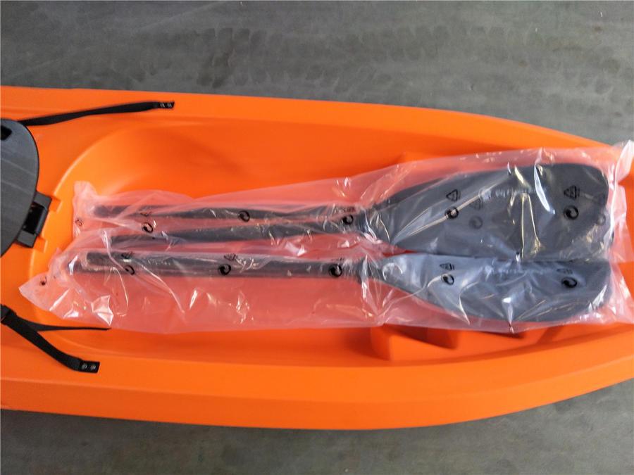 Big Mama Kayak Pireus - Canoa 2 Posti Cm 360 + 2 Pagaie + 2 Seggiolini + 4 Maniglie
