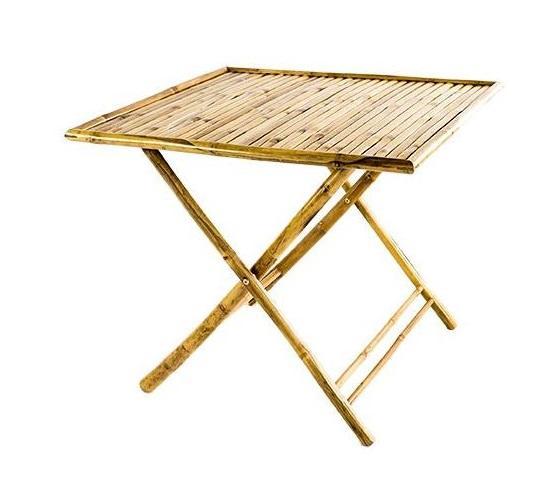 Tavolo da giardino in Bambù 90 x 90 quadrato in bamboo