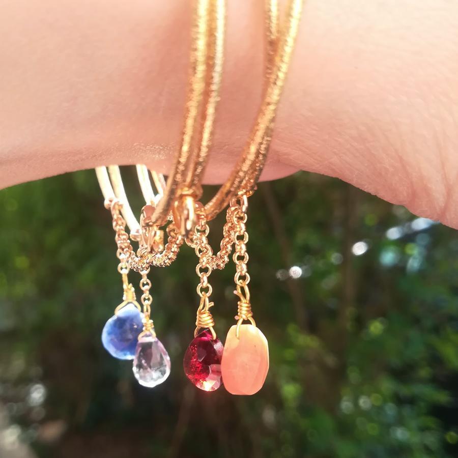 Bracciale in ottone diamantato con goccia [ + colori ]