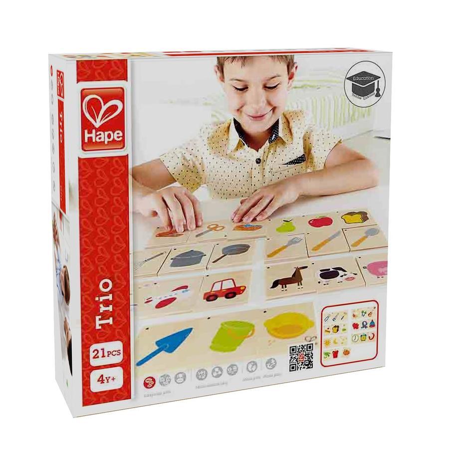 Hape E6316  Trio in legno Apprendimento Bambini Card puzzle 4+