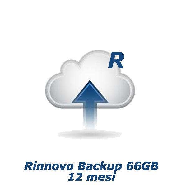 Rinnovo Backup 66GB - 12 mesi