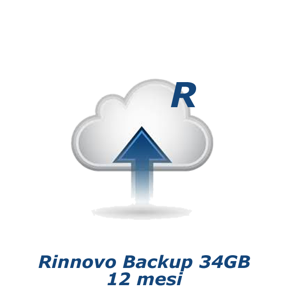 Rinnovo Backup 34GB - 12 mesi
