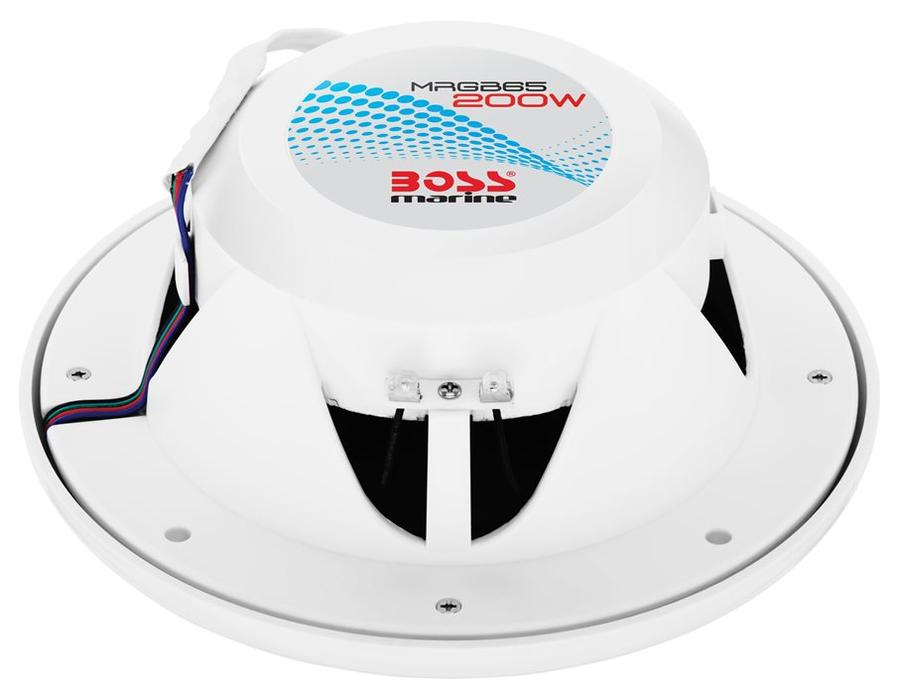 Altoparlanti Nautici MRGB65 Bianchi con LED di Illuminazione di BOSS MARINE - Offerta di Mondo Nautica  24