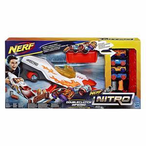 Hasbro Nerf Nitro E0858 Doubleclutch Inferno  4 auto e ostacoli 5+