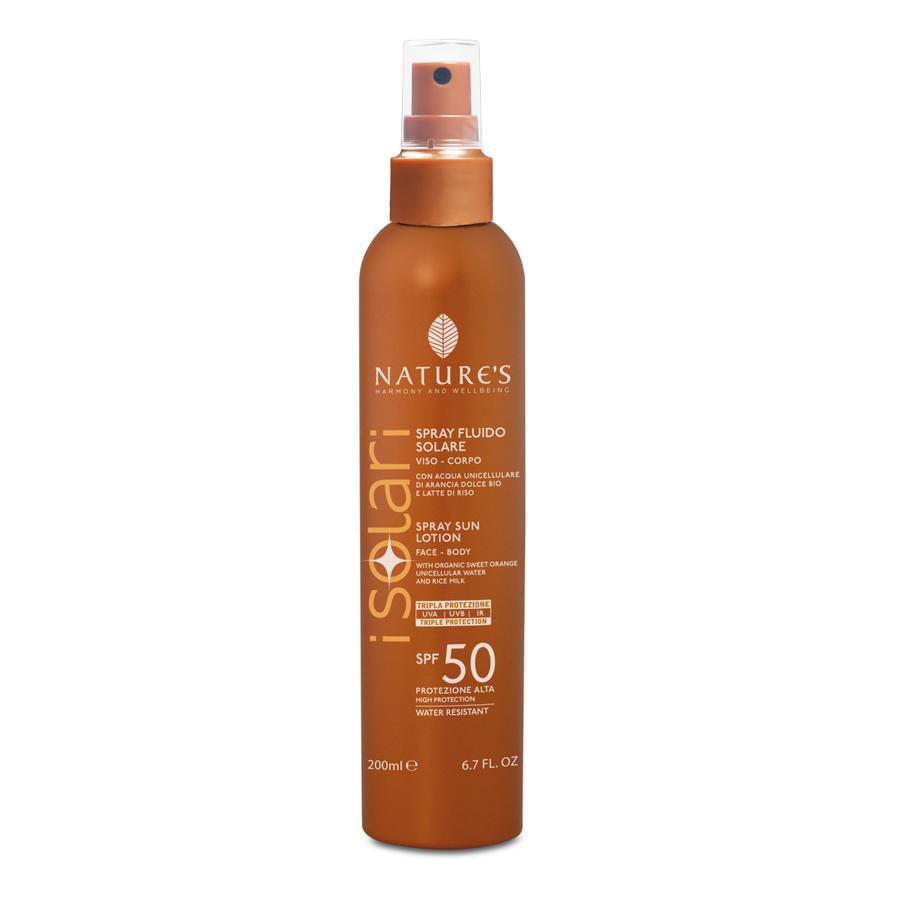 NATURE'S Solare Spray Fluido SPF 50 Viso - Corpo