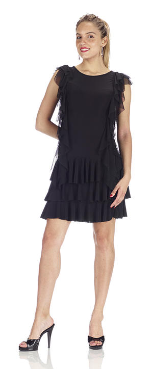 Copia di Copia di DRESS IN BLACK jersey TWO LAYERS WITH CENTRAL RUCHES 4-0051