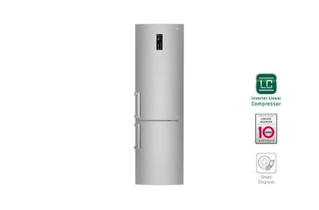 FRIGO-COMBI LG 375 LITRI NOFROST A+++ INVERTER  GRAFITE-INOX