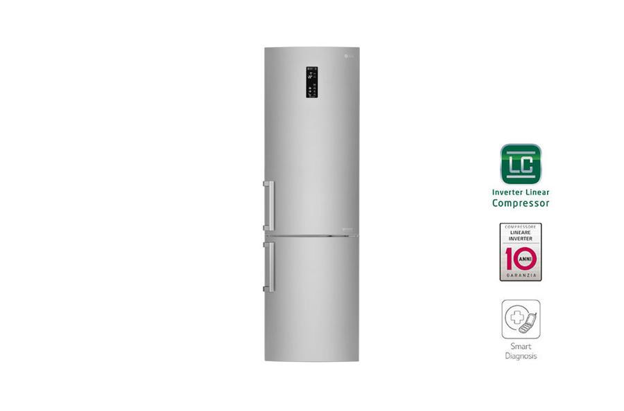LG frigorifero combinato 375lt A+++ GRAFITE-INOX Inverter No Frost GBB60NSYXE
