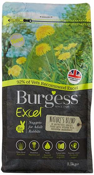 Burgess Adult Rabbit Nature's Blend Nuggets - 1,5 kg.