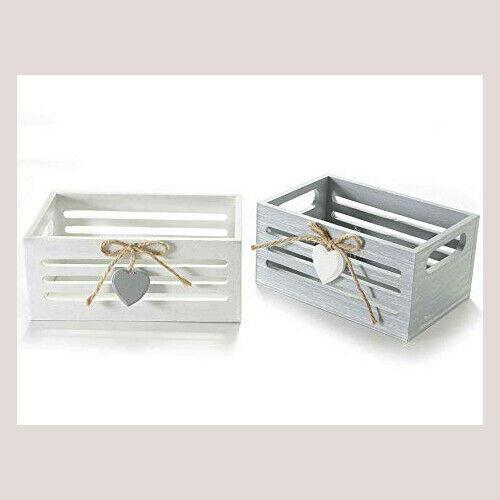 Cassette in legno Stile Shabby per casa giardini finestre Mini Cassetta Cuore