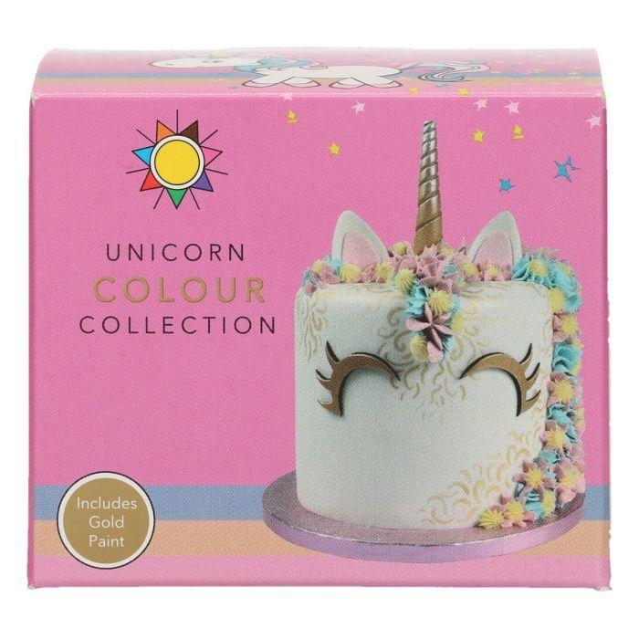 Set 5 colori per torta unicorno