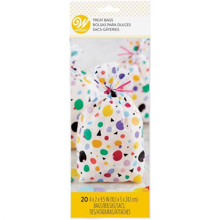 Conf. 20 sacchetti per dolcetti puntini e triangolini Wilton