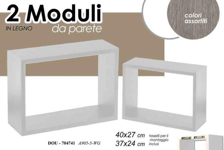 Mensole da Parete Moderne Set N2 Pezzi Scaffale a muro pensile bianco o nero
