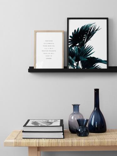 Mensole da Parete Scaffale a Muro Moderno per Quadri Cornici Design Bianco  Nero