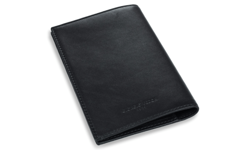 Fedon - Porta passaporto in pelle nera