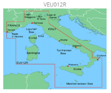 Cartografia Nautica Garmin Bluechart G3 HD Vision Mar Tirreno - Offerta di Mondo Nautica 24