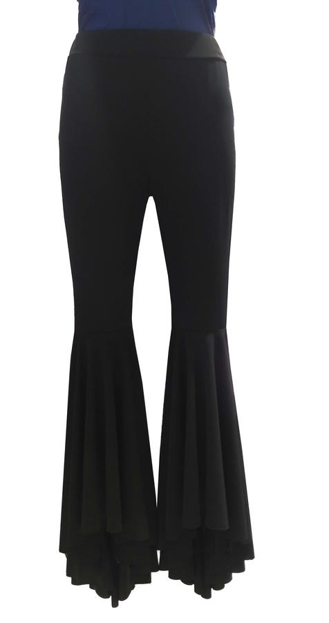 Copia di w DANCE TROUSERS IN SWEATER WITH INSERTS IN TULLE BOTTOMS 1-0010B