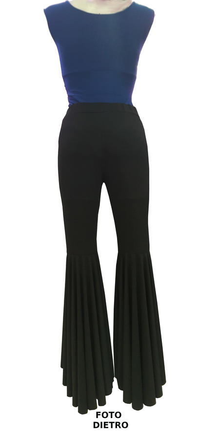 DANCE PAWL TROUSERS IN ELASTIC SHORT FRONT AND LONG BEHIND 1-0021