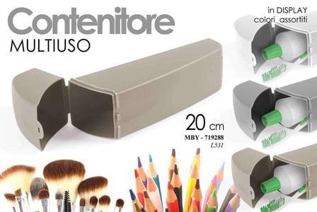 Contenitore Multiuso Make up Porta Spazzolino Penne Trucchi da Viaggio New 20 cm