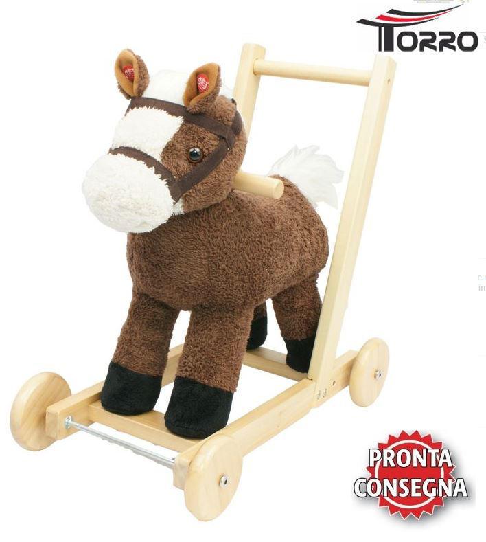 """Camminatore per Bambini """"Biffy"""" Cavallo Marrone con Musica di Torro"""