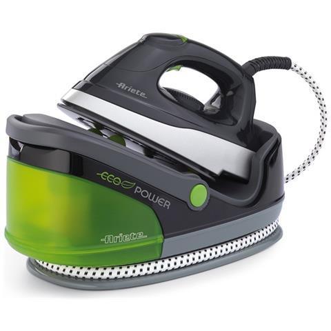 ARIETE 6422 Eco Power Ferro da Stiro con Caldaia Potenza 2400 Watt Colore Nero / Verde