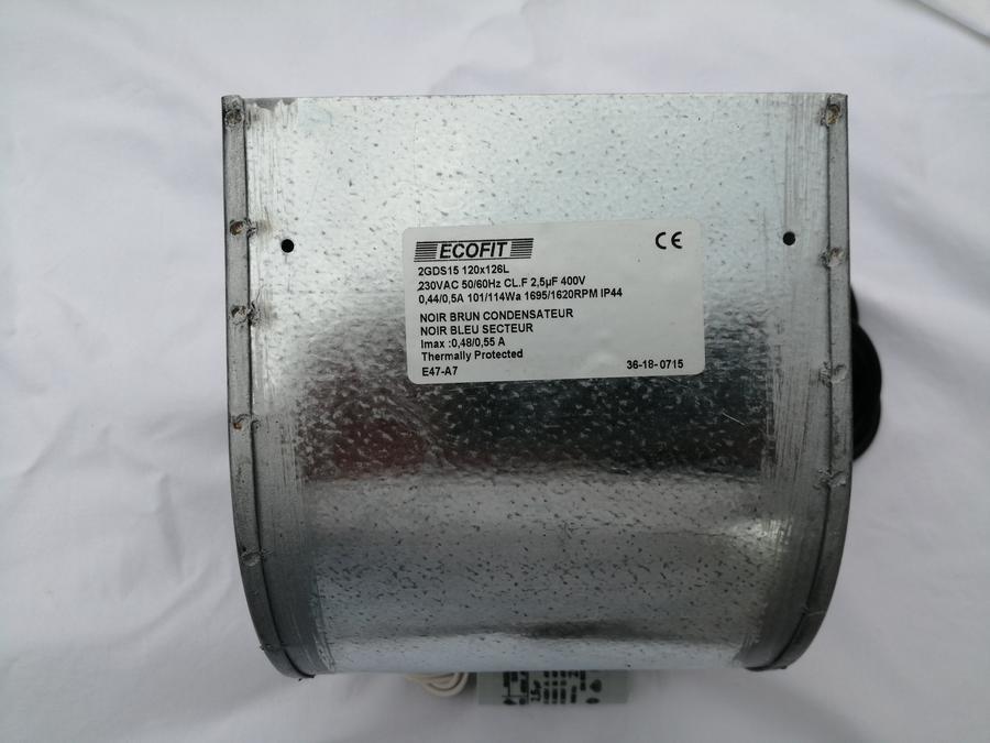 VENTILATORE  CENTRIFUGO ECOFIT 2GDS15 (compatibile con EBM D2E097)