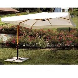 Ombrellone da giardino quadrato alluminio proff 3 x 3 tinta legno 5012