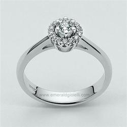LID1411-D12 Anello Miluna Solitario con Diamante